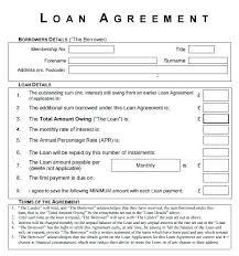 Family Loan Template Loan Template Family Loan Agreement Template Family Loan Contract