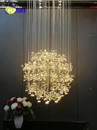 2018 New Modern Chandelier Led Crystal Lamps Long Pendant Chandelier Lustres De Cristal Kronleuchter Stair Chandelier Pendant Light Kitchen Coloured