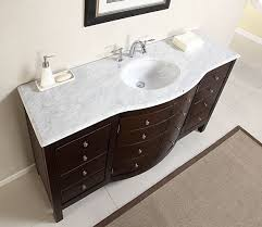 60 single sink carrara white marble top bathroom vanity cabinet 60 single sink carrara white marble top bathroom vanity cabinet furniture 274wm