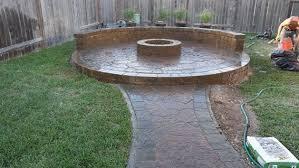 cypress texas firepit patio retaining walls fountain