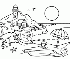 lighthouse coloring page for kids seasons coloring pages printables free