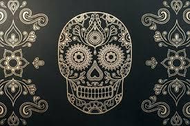 sugar skull framed art beautiful wall decor sets home 2