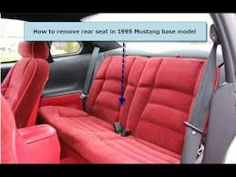 how to remove rear seats in 94 04