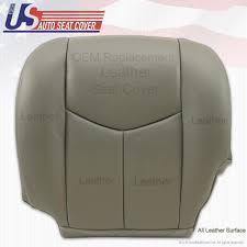 details about 2003 2004 2005 2006 chevy silverado driver bottom leather seat cover pewter gray