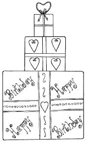 Small Picture Gift Coloring Page Of A Gift Box For Your Birthday Coloring