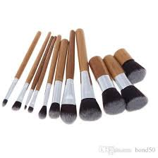 bamboo handle makeup brush set bamboo