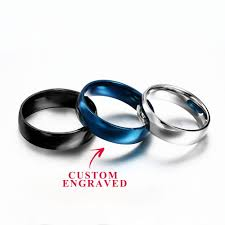 Custom Stainless Steel Ring Personalized Steel Ring Custom Ring Mesmerizing Wedding Ring Engraving Quotes