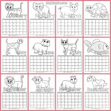 Print out a blank calendar each month for your students to color. Printable Calendar For Kids 2019 Itsybitsyfun Com