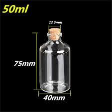 Decorative Pepper Bottles 100ml Transparent Glass Cork Bottles Glass Vials Jars Empty Storage 77