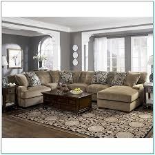 grey walls and tan living room