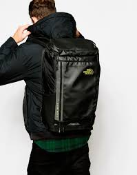 the north face fuse box charged backpack in black for men lyst gallery