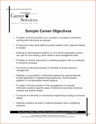 Social Worker Resume Objective Awesome Resume Objective Examples For