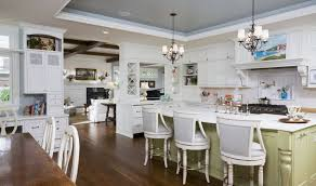 white furniture set tray ceiling kitchen decor with pendant lights chandelier