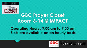 gbc prayer closet