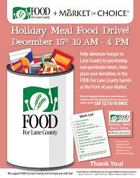Food Drive Posters Food For Lane County Holiday Meal Drive Poster Food For