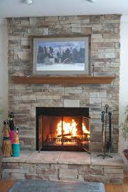 installing a gas fireplace cost mountain stack stone 6 6 wide with returns 3 deep and