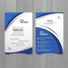 Creative Brochure Design Vector Free Download Blue White Wavy Brochure Template Free Brochure Template