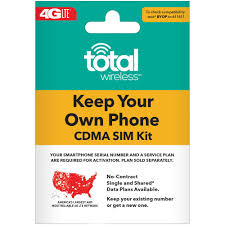 Total Wireless Bring Your Own Phone Sim Kit Verizon Cdma Compatible Walmart Com
