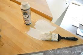 whitewash and seal a butcher block counter top the diy mommy pertaining to painted countertop sealer