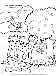 7 Days Of Creation Coloring Sheets The Creation Coloring Pages For
