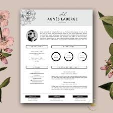 Fashion Resume Template Classy Resume Template Feminine Resume And FREE Cover Letter Etsy