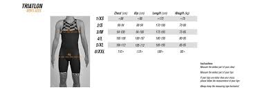 Sizechart Bicycle Clothing Bioracer