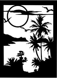 Silhouette Art Designs Beach Scene Silhouette Art Stencils Silhouette