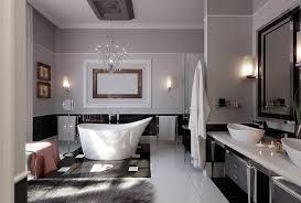 contemporary bathroom decor ideas. Bathroom:Elegant Contemporary Bathroom Decor Ideas Using White Free Standing Tub Plus Chrome Faucets R