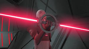 the main villain on the animated series star wars rebels although it looks like it was based on a children s toy this lightsaber actually originated