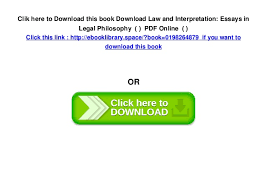 law and interpretation essays in legal philosophy pdf 5 clik here to