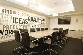 elegant office conference room design wooden. Elegant-office-meeting-room-with-wall-decor -also-padded-back-swivel-chairs-around-solid-wood-table Posted In Some Modern Meeting Room Design Ideas Elegant Office Conference Wooden C