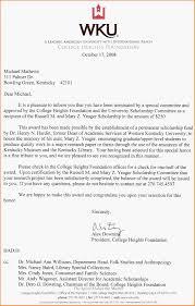 10 Scholarship Award Letter Letter Template Word