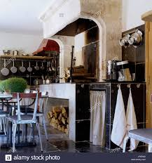 Rustic Industrial Style Kitchen And Dining Room Stock Photo
