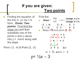 if you are given two points