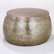 ... World Market Metal With Storage Inside This Would Be Great For A Patio  Small Round Ottoman Citation Coffee Table ...