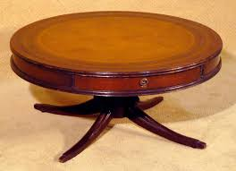 36 leather top round coffee table circa 1940s