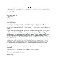 Example Of Sales Cover Letter Resume Bank