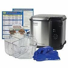 Details About Butterball Turkey Electric Fryer Kit Boil Steam Machine Fish Chicken Pot Basket