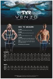 Tyr Womens Wetsuit Size Chart Tyr Venzo Size Guide Ness Swimwear