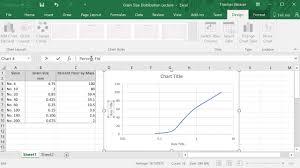 Logarithmic Chart Excel Semi Log Grain Size Plot In Excel