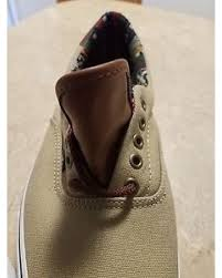 best quality vans canvas leather mens size 11 khaki sneaker skate shoes brown laces unworn