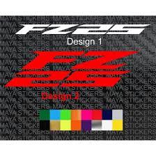 yamaha fz logo sticker in custom colors
