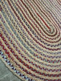 cotton braided rug rag rug braided oval jute and cotton by cotton braided rugs made