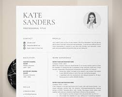 professional resume templates for word resume template etsy