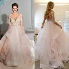 hayley paige 2017 spring ball gown blush wedding dresses with long
