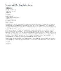 Counter Offer Salary Letter Sample Arianet Co