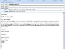 Sample Email To Send Resume And Cover Letter Sample Email To Send