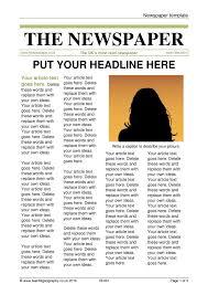 Newspaper Story Template Newspaper Masthead Template Barca Fontanacountryinn Com