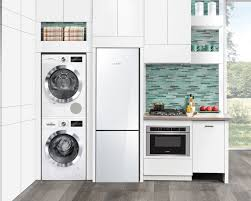 tiny house appliances. designed specifically for compact living, boschs new line of 24 appliances fits seamlessly into the modern kitchen and laundry room. tiny house