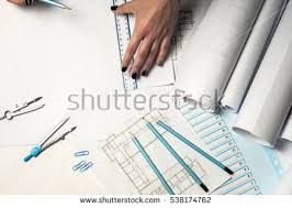 architect office supplies. delighful supplies architect working on blueprint architects workplace  architectural  project blueprints ruler and divider to office supplies